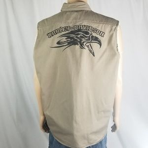 Harley Davidson Sleeveless buttondown shirt XL men